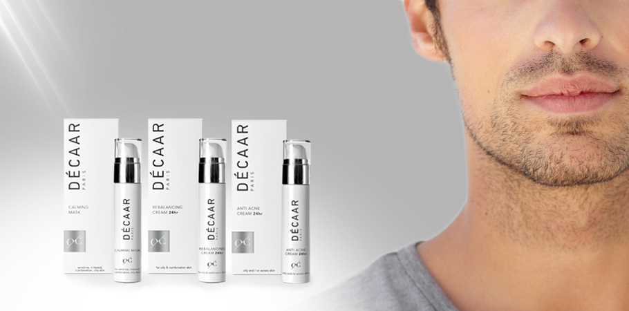 DÉCAAR aspires healthy skin equally: MEN SKINCARE